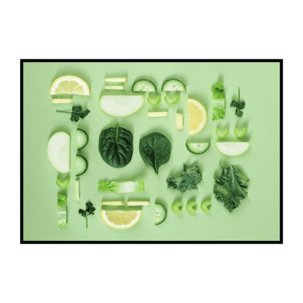 арт остер на стену Зеленое ассорти