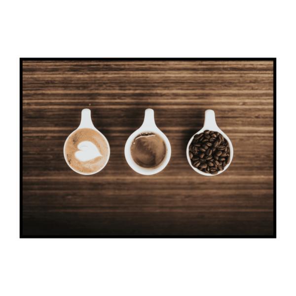 Постер на стену Три чашки с кофе