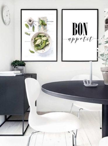 Пара постеров Bon appetit