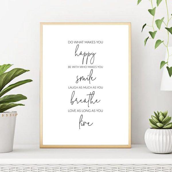 постер текст красивый в рамке