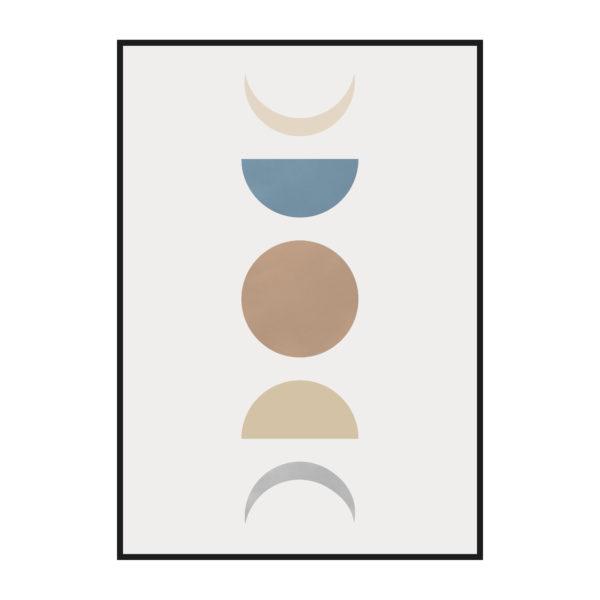 постер фигуры луна фазы стадии
