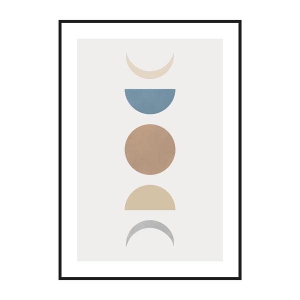постер фигуры луна