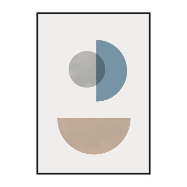 постер геометрические фигуры нейтральные
