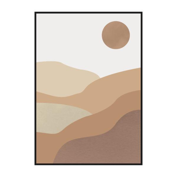 постер пустыня графика