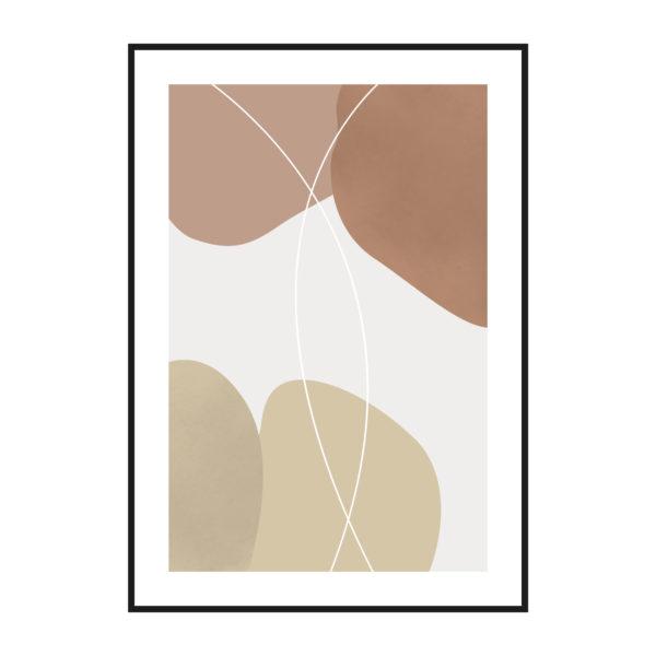 постер абстракция коричневый