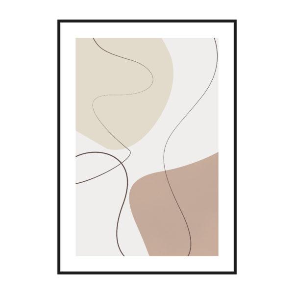 постер паспарту пастельный стена