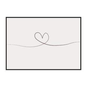 постер скандинавский стиль линия сердце