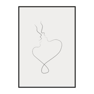 """Постер на стену """"Лица влюбленных"""""""