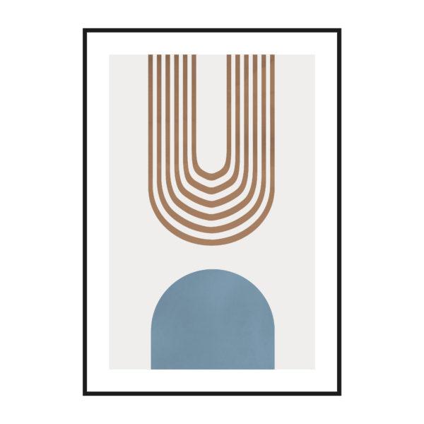 постер пастельный в рамке абстракция