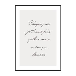 """Постер на стену """"Про любовь на французском"""""""