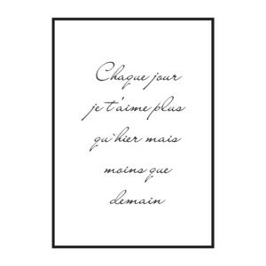 """Постер скандинавский стиль на стену """"Про любовь на французском"""""""