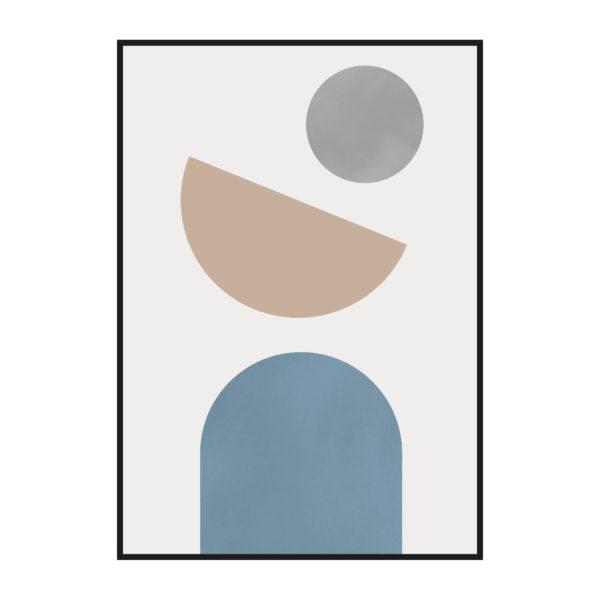 постер на стену абстракция фигуры