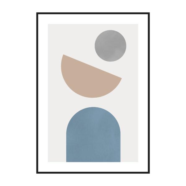 постер абстракция пастельные фигуры