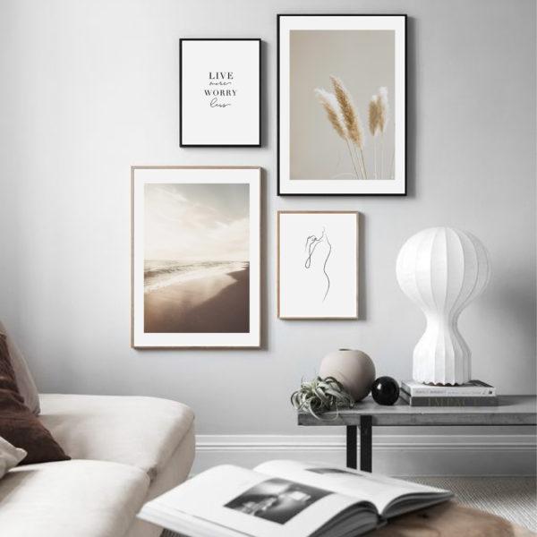 четыре постера на стену