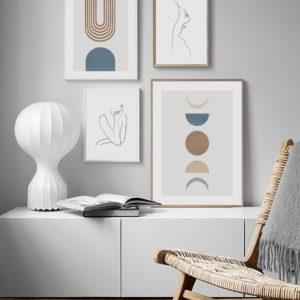 Галерея постеров с абстракциями