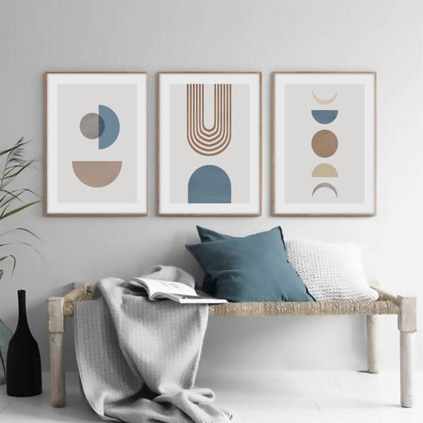 Трио постеров абстракция