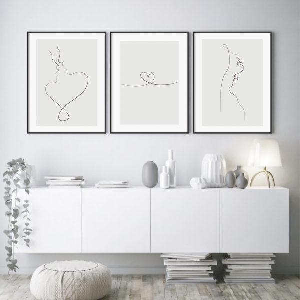 Трио постеров абстракция 2