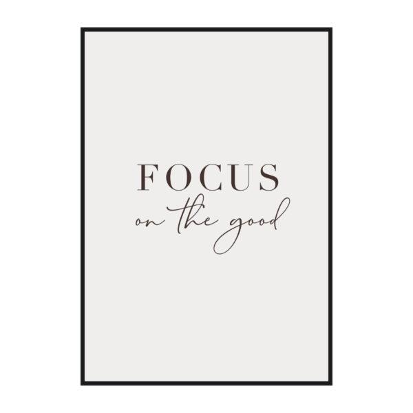 """Постер скандинавский стиль """"Focus on the good"""""""