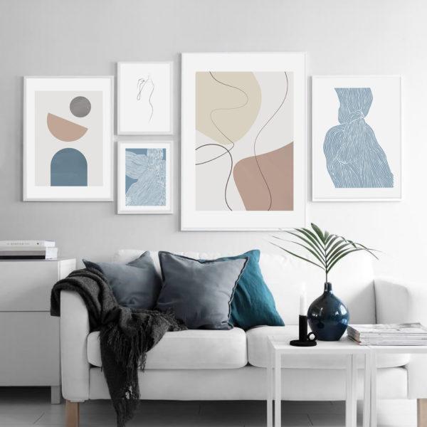 постеры на стену нежная абстракция