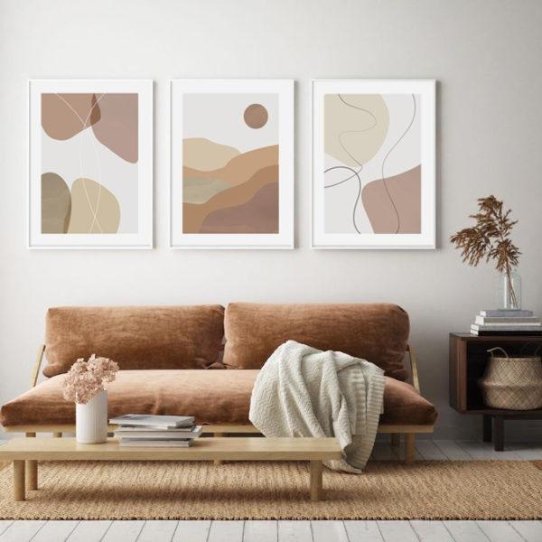 Трио постеров абстракция 3