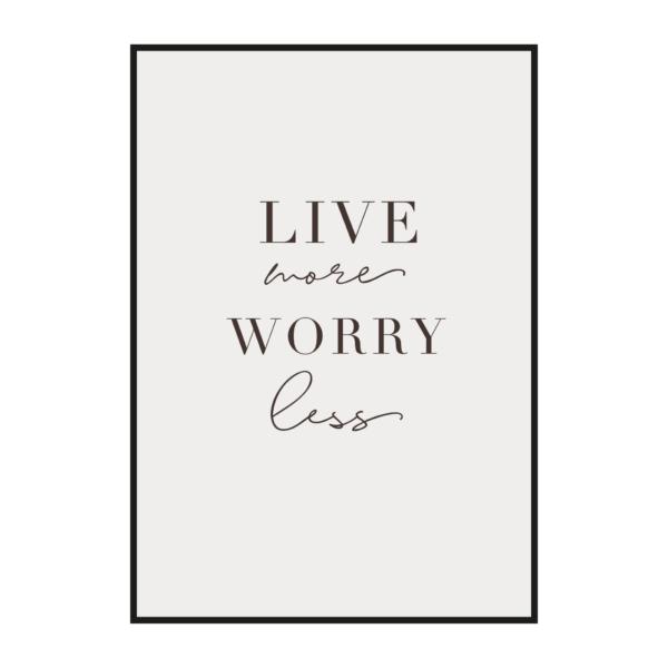 "Постер скандинавский стиль на стену ""Live more Worry less"""