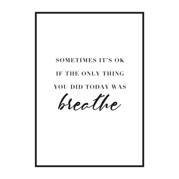 "Постер на стену скандинавский стиль ""Sometimes it's ok"""