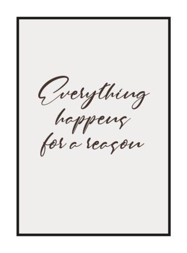 """Постер на стену """"Everything happens"""""""