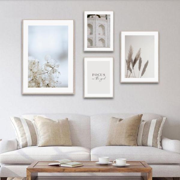 стильные постеры на стену в интерьер 4 штуки