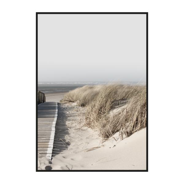 постер побережье на холсте