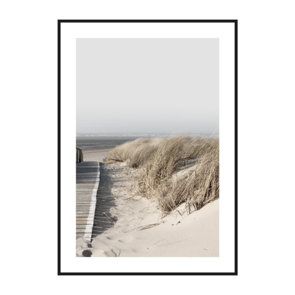 постер побережье рамка