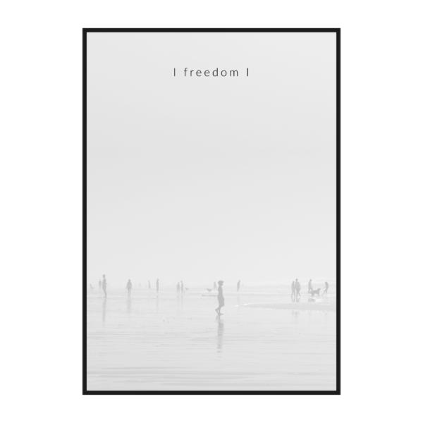 серый туман постер