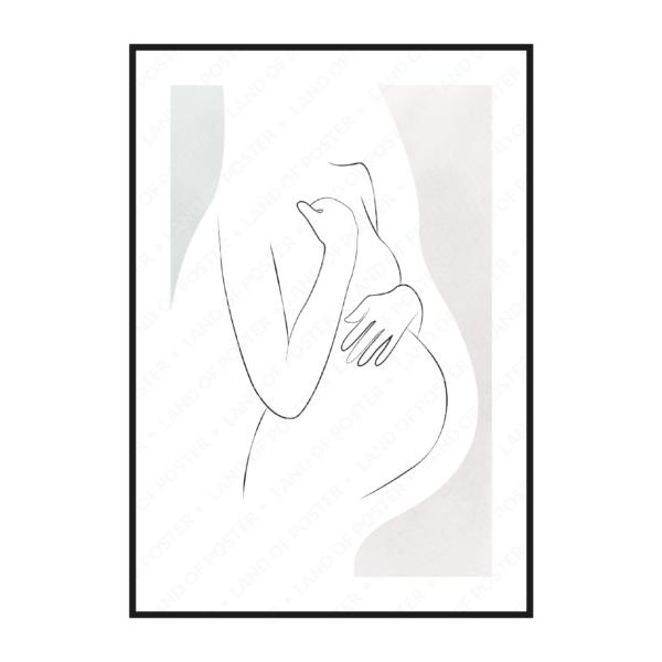 постер беременная мама с животиком