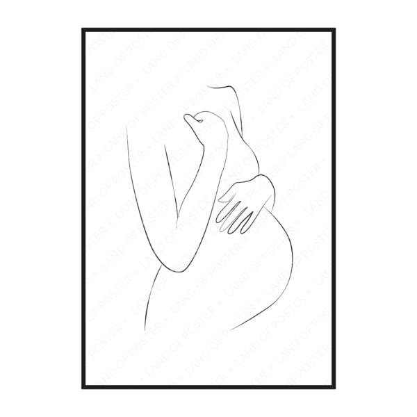 постер в раме мама с животиком