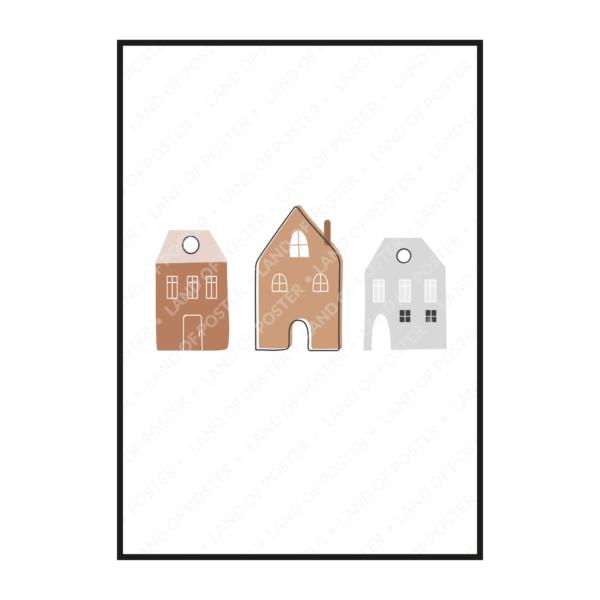 Домики постер рисунки
