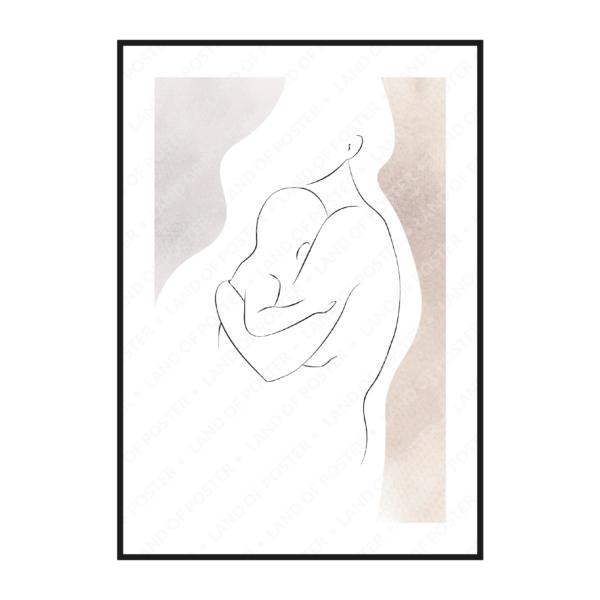 мама и младенец постер картина