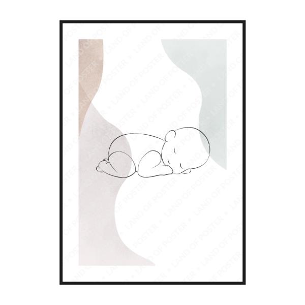 силуэт малыша постер