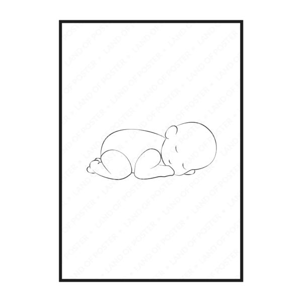 силуэт ребенка постер