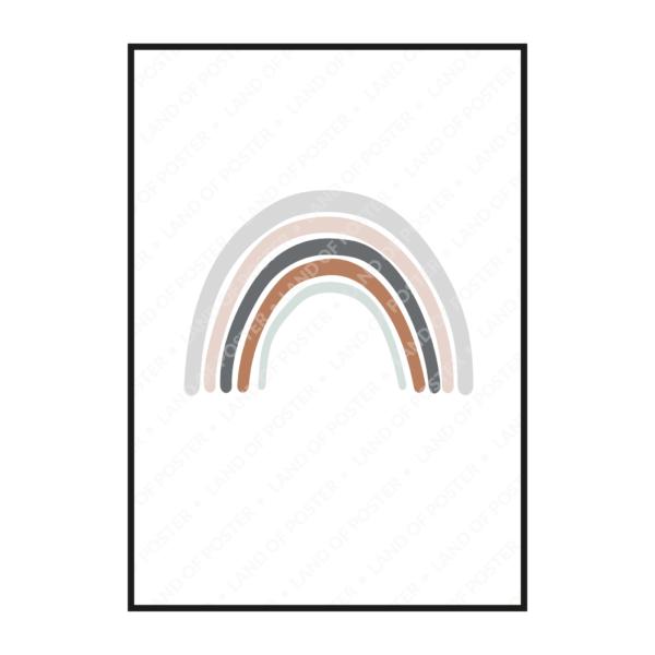 постер радуга рисунок