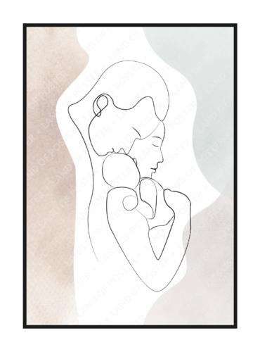 постер силуэт эскиз пастель