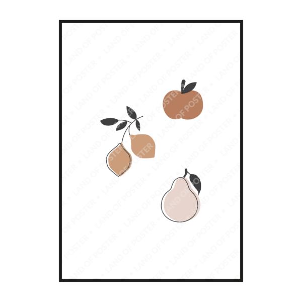постер фрукты рисунок