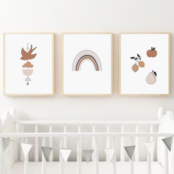 три постера детские рисунки