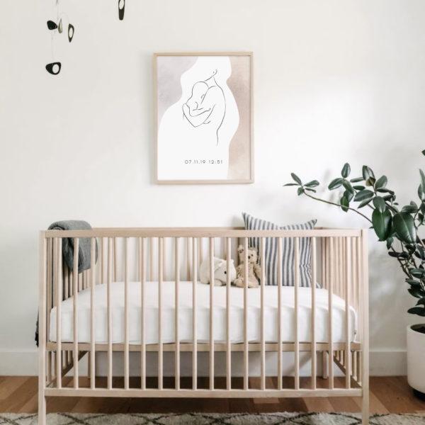 постер мама и малыш в детскую