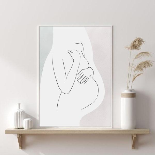 постер в детскую беременная мама