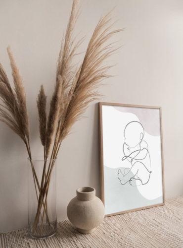 постер в детскую малыш