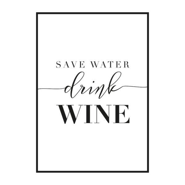 постер надпись вино