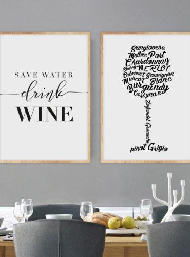 постеры вино два