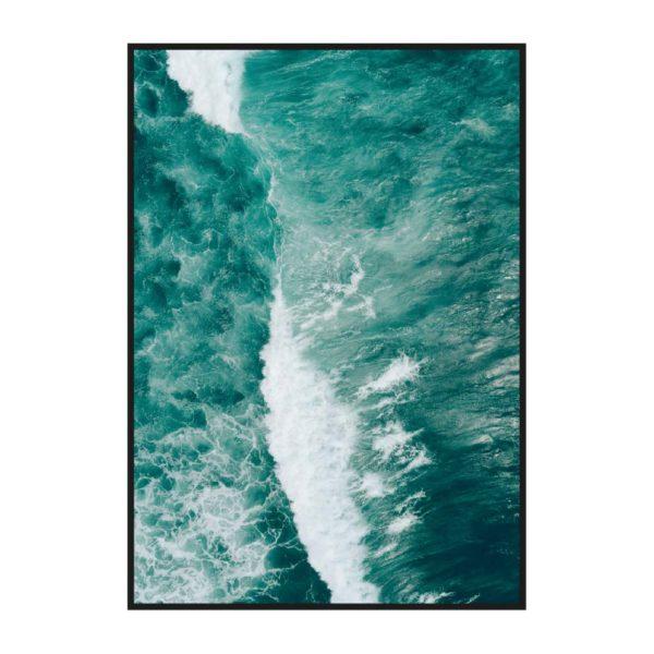 Постер на стену Бирюзовые волны