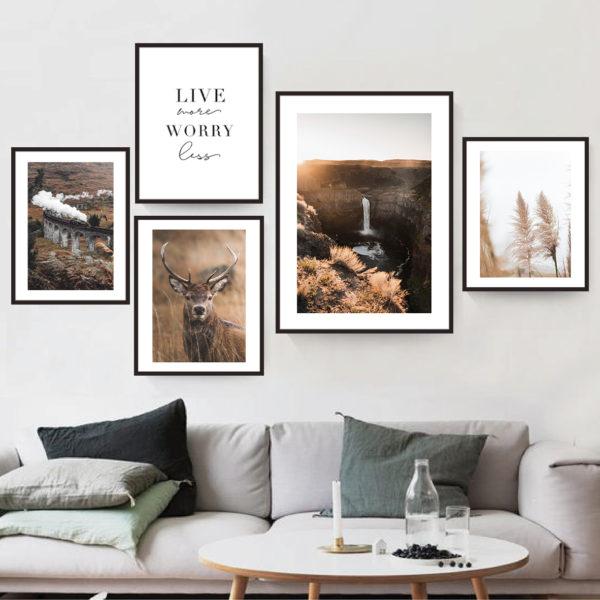 природа и текст постеры