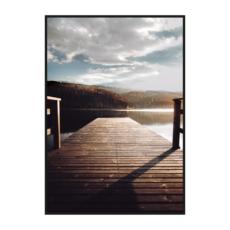 постер пристань солнце