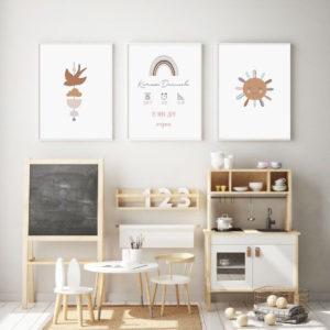 три детские абстракции постеры